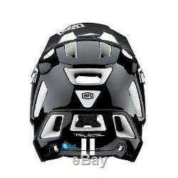 100% Trajecta Full-Face Jet Ski MTB Bike Helmet Black/White Snow Ski Snow Board