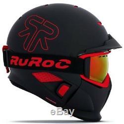 2019 NEW! Ruroc Black Inferno RG1-DX Ski and Snowboard Helmet M/L