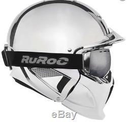 2019 NEW! Ruroc Chrome RG1-DX Ski and Snowboard Helmet XL/XXL RECCO