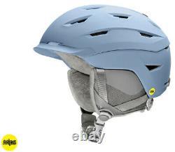 2020 Smith Optics Liberty Smokey Blue Women's MIPS Ski Snowboard Helmet NEW