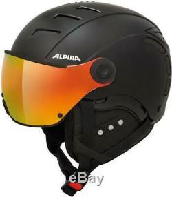 ALPINA Jump 2.0 QVM Skihelm mit Visier Quattro Varioflex Multi Mirror