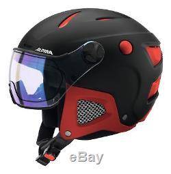 ALPINA Snowboard Helm ATTELAS VISOR VHM 2018 black-red matt Herren Ski
