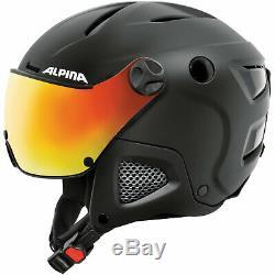 Alpina Attelas Snowboardhelm Skihelm mit Visier Helm Helmet Visor A9090