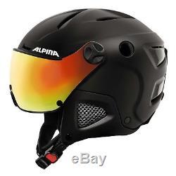 Alpina Attelas Visor QVM Skihelm Schneehelm Winter Visier Visor black matt