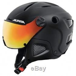Alpina Attelas Visor Qvmm Black Matt Skihelm Snowbaordhelm 53-58cm 58-61cm