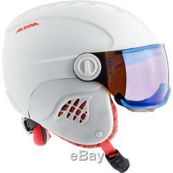 Alpina Carat LE Visor HM Skihelm Snowboardhelm mit Visier white-flamingo-matt NE