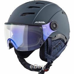 Alpina Erwachsene Visier Skihelm Alpinhelm JUMP 2.0 VM S1 VARIOFLEX nightblue