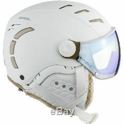 Alpina Erwachsene Visier Skihelm Alpinhelm JUMP 2.0 VM S1 VARIOFLEX white