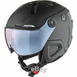 Alpina Erwachsenen Skihelm Ski Helm ATTELAS VISOR QuattroVarioflex black matt