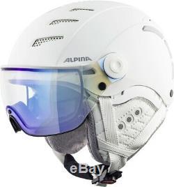 Alpina Jump 2.0 VM Visier Skihelm Snowboardhelm white matt
