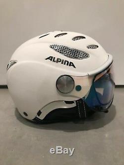 Alpina Jump Varioflex Ski Helmet White Size 55-57