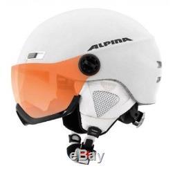 Alpina Menga Jv Hm White Mat Skihelm Snowboardhelm 55-59 CM