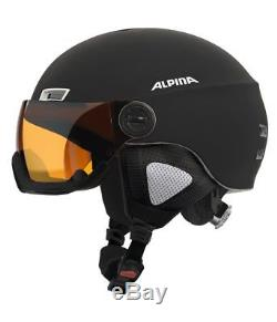 Alpina Menga Visor JV Visier Skihelm Snowboardhelm black matt