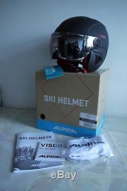 Alpina Ski Helmet Children's Carat Le Visor HM Size 51 55cm