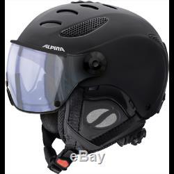 Alpina Ski Helmet Jump Jv VHM Varioflex Visor Black Mat 3 Sizes