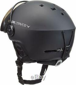 BLACK CREVICE (Austria) Gstaat Visor Ski/Snowboard Helmet, SizeS (51-53 cm)