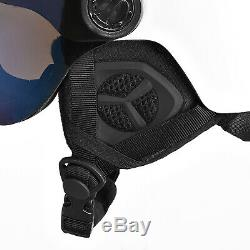 BLACK CREVICE Ski-& Snowboardhelm mit Visier Modell GSTAAD White/Blue