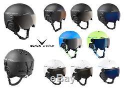 BLACK CREVICE Skihelm/Snowboardhelm mit Visier Modell GSTAAD Pilotenstyle
