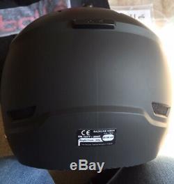 BOLLE BACKLINE VISOR Soft Black & Silver Ski Helmet Silver Gun/lemon Visor 54-56
