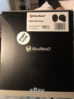 BRAND NEW! Ruroc RG1-DX Onyx Ski and Snowboard Helmet M/L 2018