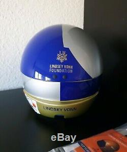 BRIKO RED BULL SKIHELM Vulcano Helmet LINDSEY VONN Limited Edition Size 64 NEU