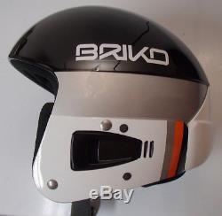 BRIKO ski VULCANO race helmet FIS 6.8 us team BLACK 56 cm PROTETTO nastar ussa