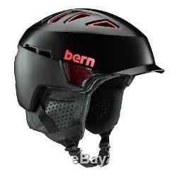 Bern Mens Heist Brim BOA Ski Snow Helmet Carbon Fibre