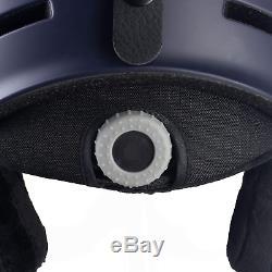 Black Crevice Gstaad Unisex Adult Ski Helmet with Visor, Navy/White, S/M 54-57