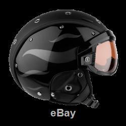 Bogner Ski-Helm B-Visor Flames Black