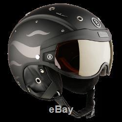 Bogner Ski-Helm B-Visor Flames Black Matt