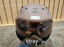 Bogner Ski Helmet B-Visor Flames Violet Ash M (54-58cm)