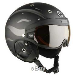 Bogner Skihelm Helmet B Visor Flames Black Matt Gr. L 58-62 cm