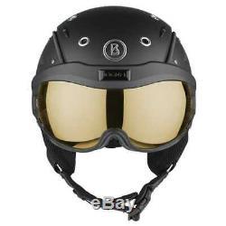 Bogner Skihelm Helmet B Visor Flames Black Matt Gr. M 54-58 cm