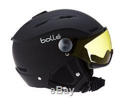 Boll Skihelm Backline Visor Soft Black/Silver Gun/Lemon Helmet 59-61 cm