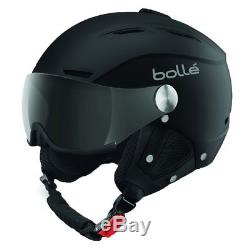 Bolle 31253 Backline Visor Soft Black and Silver Ski Helmet with Grey Visor 59