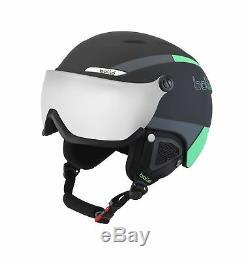Bollé B-Yond Visor Outdoor Skiing Helmet Black/Green 58 61 cm