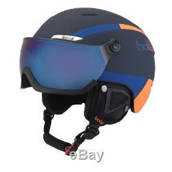 Bolle B-Yond Visor Ski & Snowboard Helmet Navy/Orange