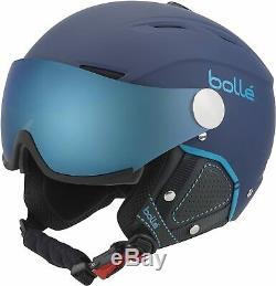 Bolle Backline Visor Premium 1 Grey Blue & 1 Lemon Visor Ski Helmet Medium