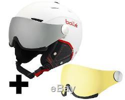 Bollé Backline Visor Premium Skihelm soft white & red/silver gun visor + lemon v