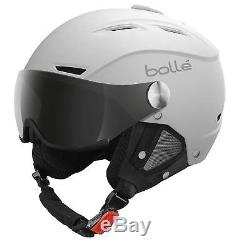 Bolle Backline Visor Ski Helmet Soft White Silver Gun Visor 56-58cm 21267 New