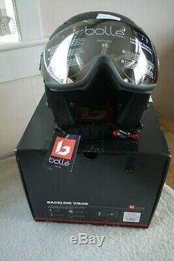 Bolle Backline Visor Ski/Snowboard Helmet Size S (54-56cm) Soft Black & Silver
