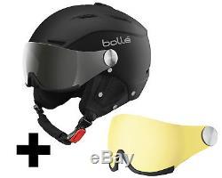 Bollé Backline Visor soft black & silver Skihelm inkl. Wechselvisier Gr. L 59