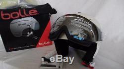 9d676352 Bolle Backline Visor Premium Ski Helmet Soft White/silver 56-58