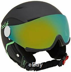 Bollé Erwachsene Backline Visor Premium Skihelme Soft Black/Green 59-61 cm