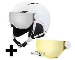 Bollé Juliet Visor Skihelm inkl. Visier soft white nordic/silver gun visor + lem