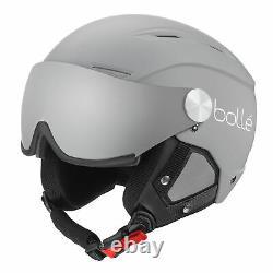 Bolle NEW Backline Visor Ski Helmet Matte Grey / White BNWT