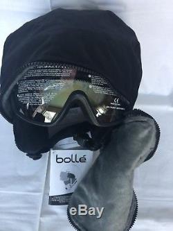 Bolle Osmoz Ski Snowboard Helmet &Visor Googles Black M54-58cm Brand New in Box