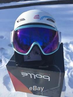 Bolle Osmoz Ski Snowboard Helmet & Visor Googles White L58-61cm Brand New in Box