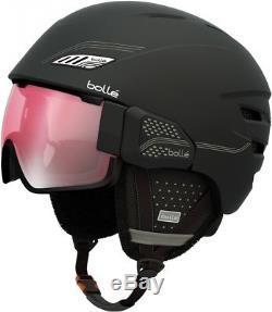 Bolle Osmoz Ski Snowboard Helmet Visor Rose Gun Lens, Soft Black &Grey L 58-61cm
