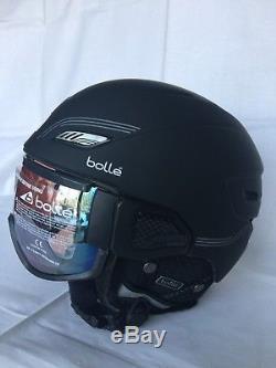 Bolle Ski Snowboard Helmet with Visor Googles Black M 53-56cm New in Box $300
